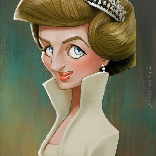 Karikatur von Prinzessin Diana