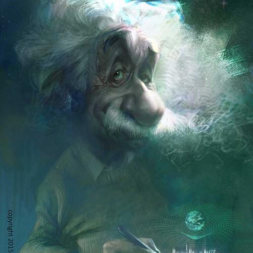 Karikatur von Einstein Albert, Groß