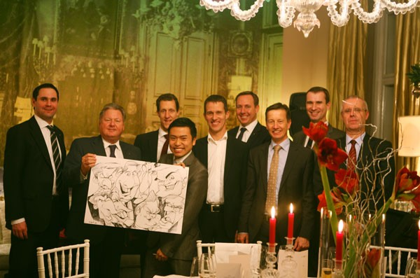 Schnellzeichner Firmenveranstaltung Foto