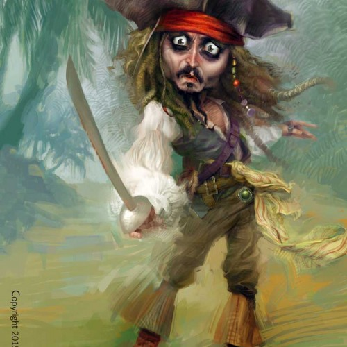 Karikatur Johnny Depp