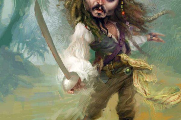 Karikatur Johnny Depp