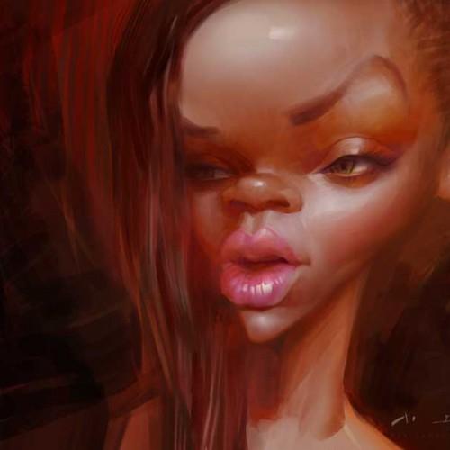 Karikatur Rihanna