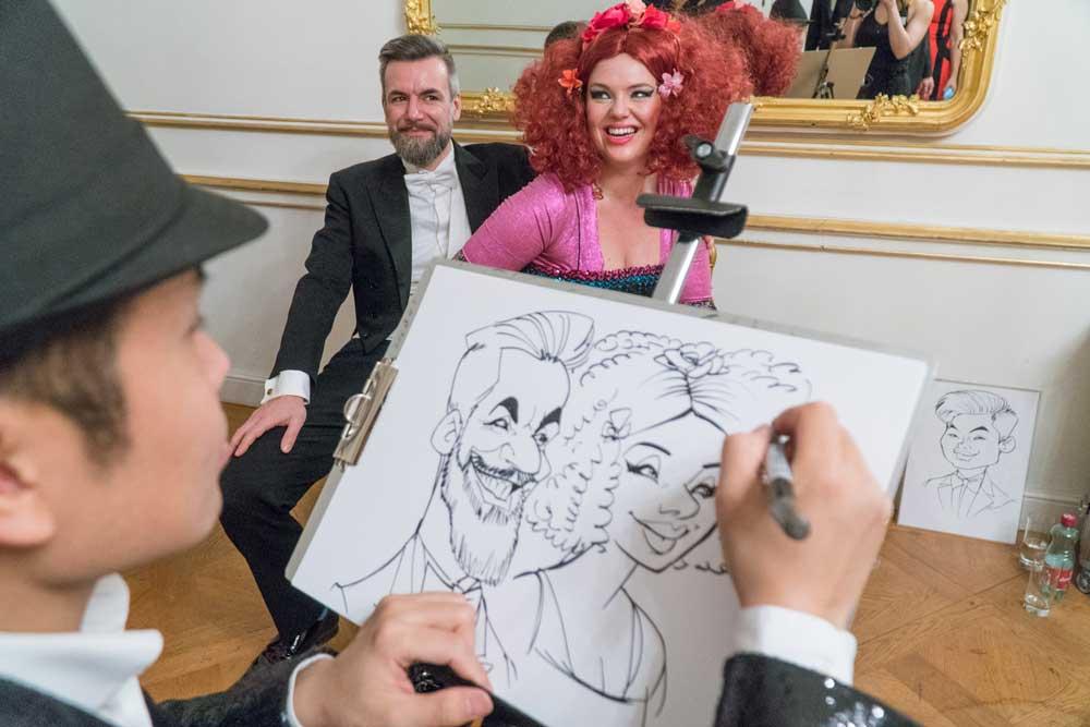 Karikaturist und Schnellzeichner für Ball und Gala in Innsbruck
