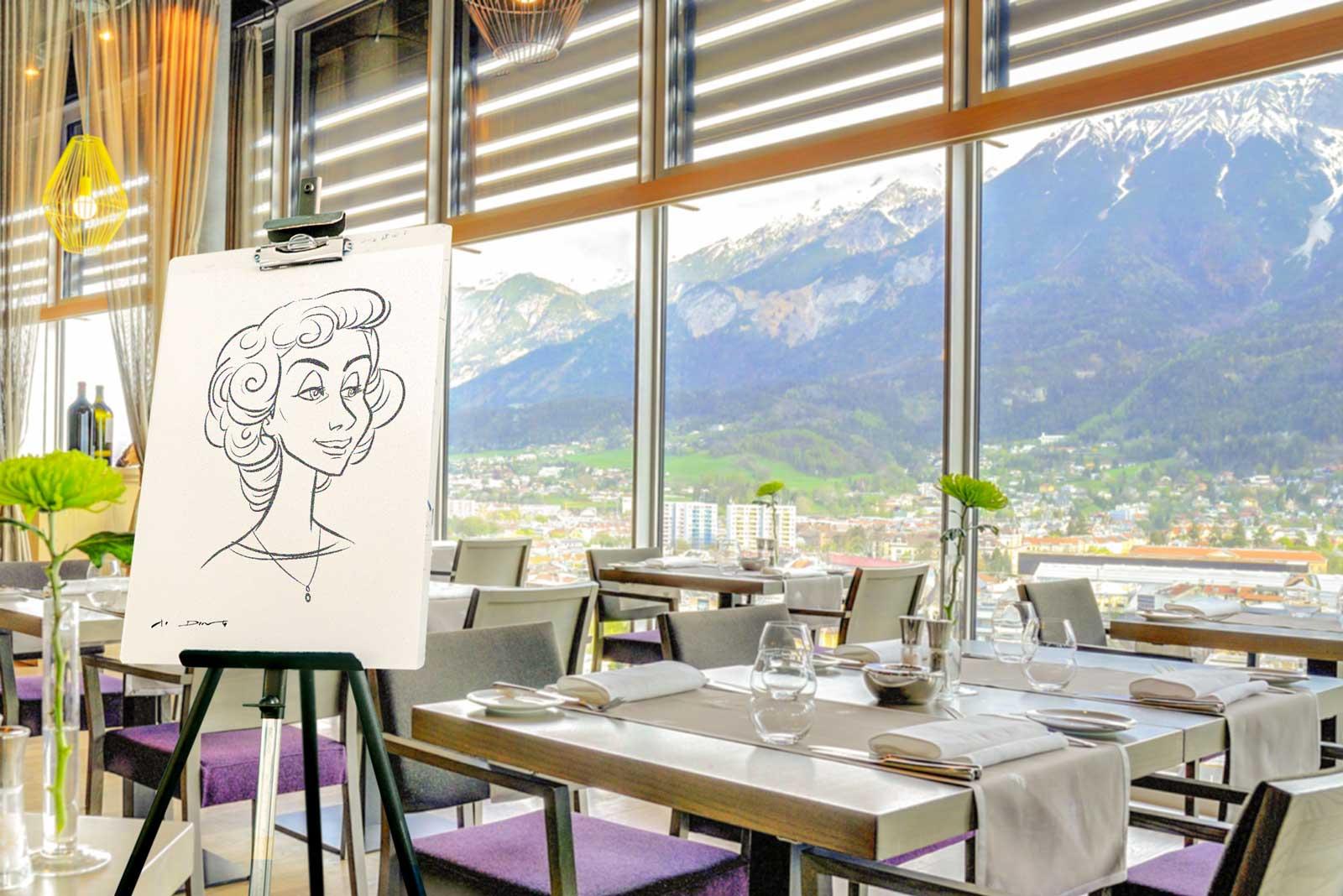 Karikaturist und Schnellzeichner für Innsbruck und Umgebung