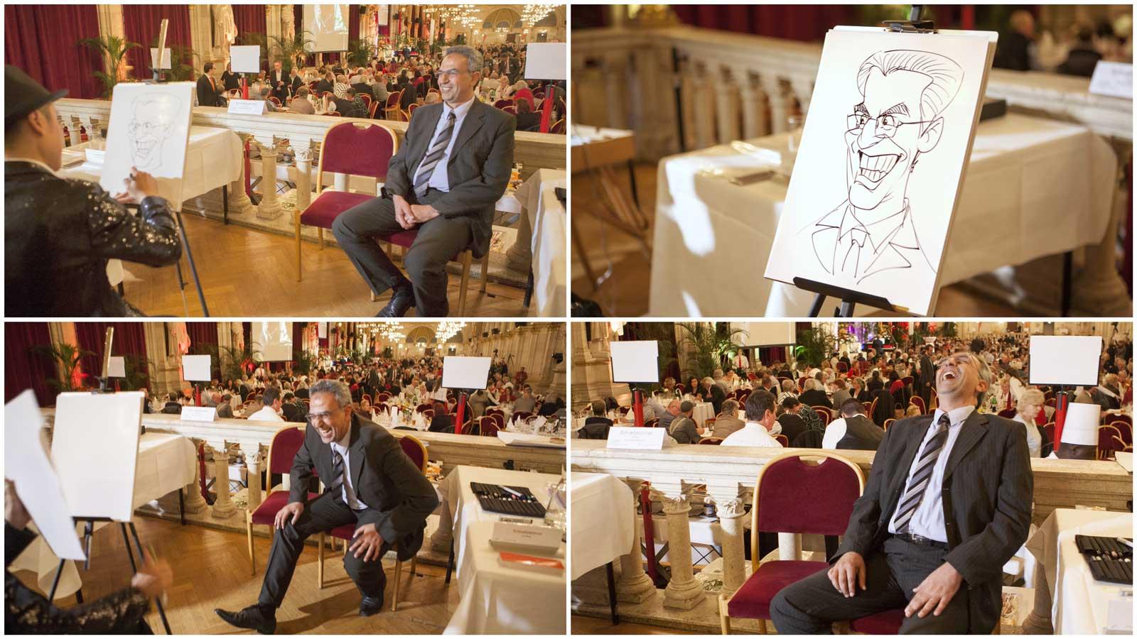 KarikKarikaturist und Schnellzeichner für Kundenevents in Wien und Umgebung