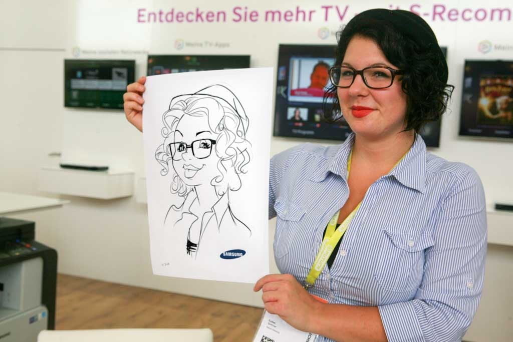 Karikaturist und Schnellzeichner für Marketing auf Messe in Wien