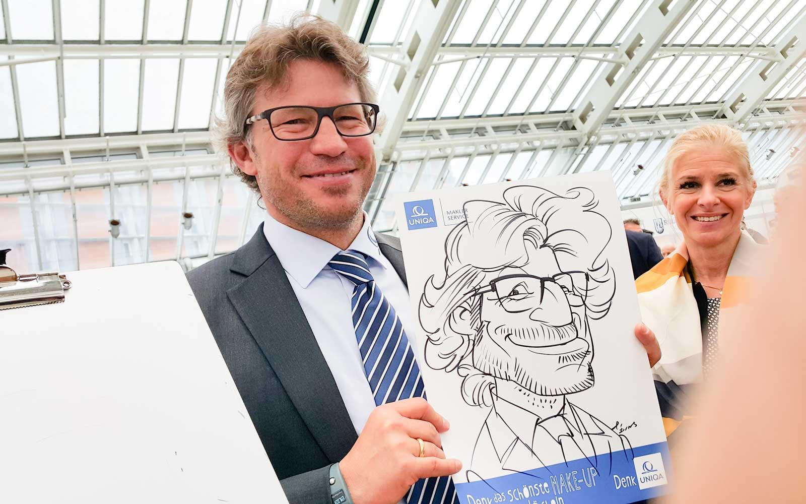Karikaturist und Schnellzeichner für Messen in Graz