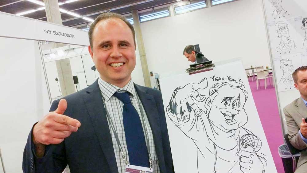 Karikaturist und Schnellzeichner für Messen in Innsbruck