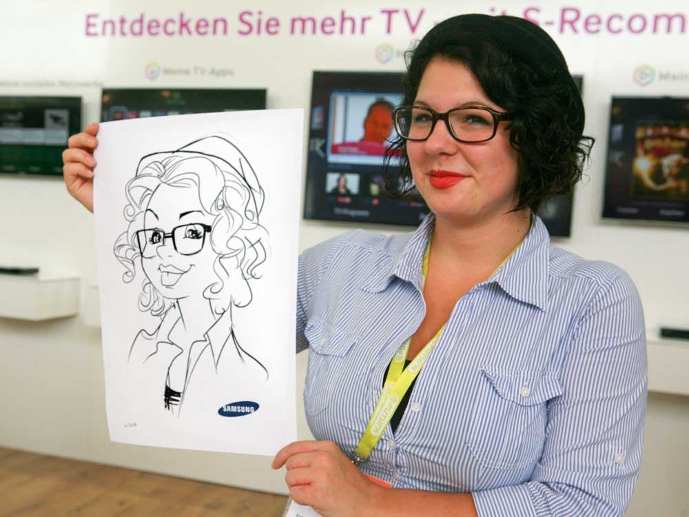 Karikaturist/Schnellzeichner für Messen in Salzburg