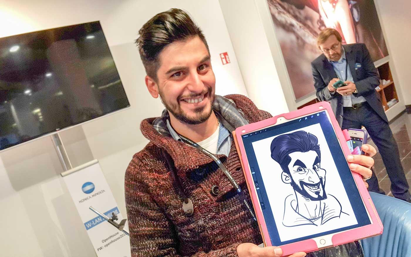 Karikaturist und Schnellzeichner für Promotions in Graz