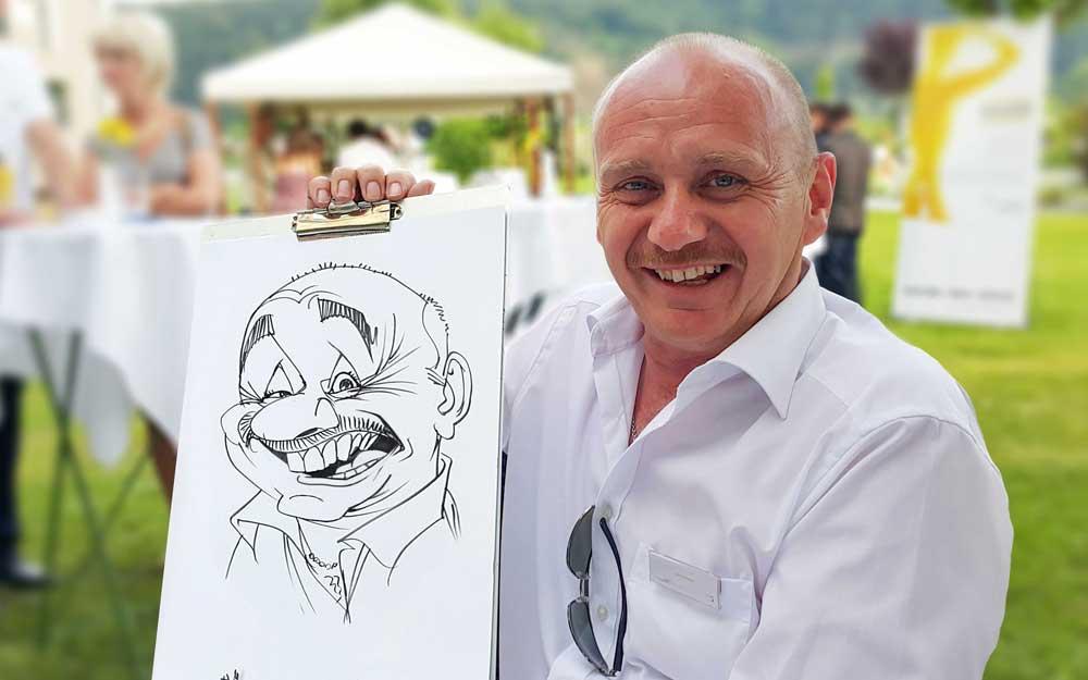 Karikaturist/Schnellzeichner für Sommerfest in Salzburg