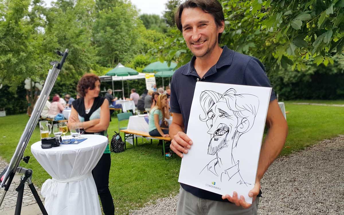 Karikaturist und Schnellzeichner für Sommerfeste in Graz