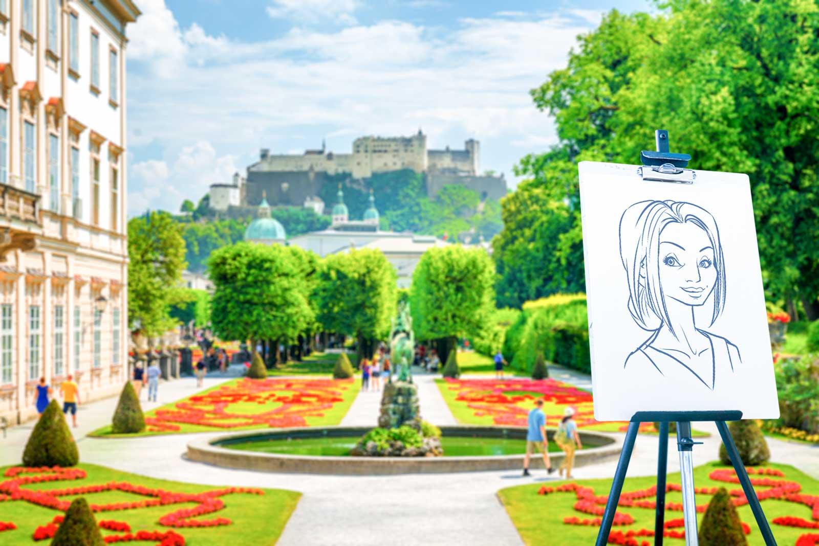 Karikaturist und Schnellzeichner für Salzburg und Umgebung