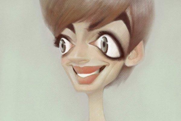 Karikatur Anne Hathaway