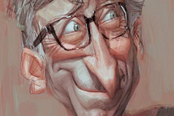 Karikatur Bill Gates