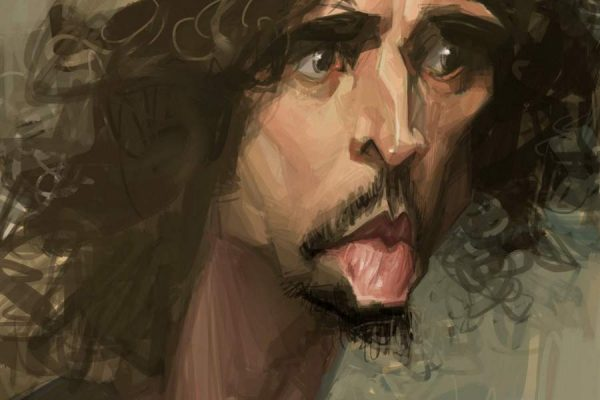 Karikatur Chris Cornell
