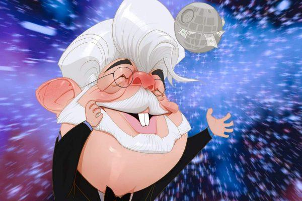 Karikatur George Lucas