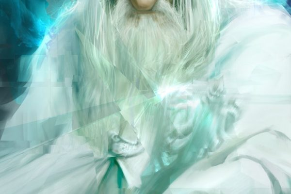 Karikatur Gandalf