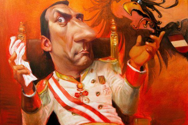 """Karikatur Robert Palfrader als """"Kaiser"""""""