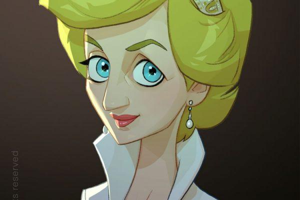Karikature Prinzessin Diana