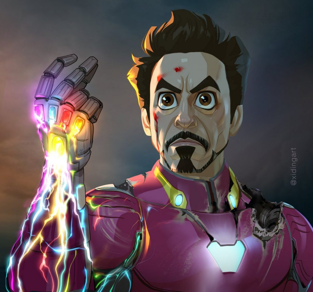 Iron Man Karikatur, Robert Downey Jr. Caricature