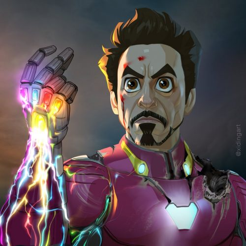 Iron Man Karikatur