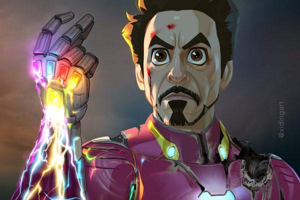 Iron Man Karikatur