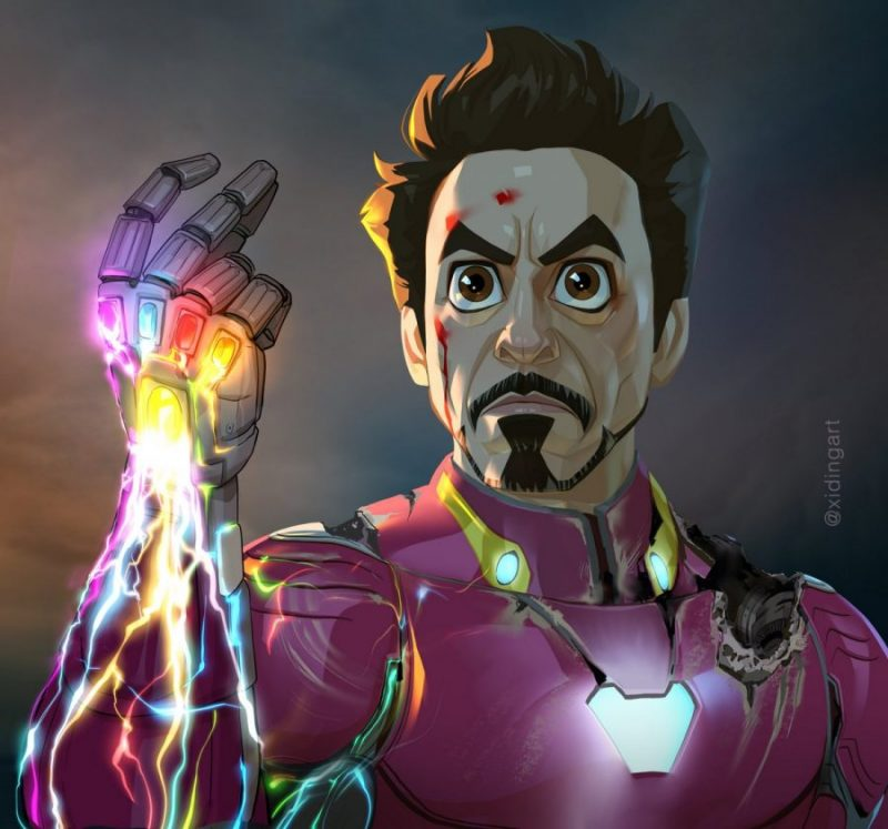 Creating the Caricature of Iron Man Using the Analytical Rendering Technique