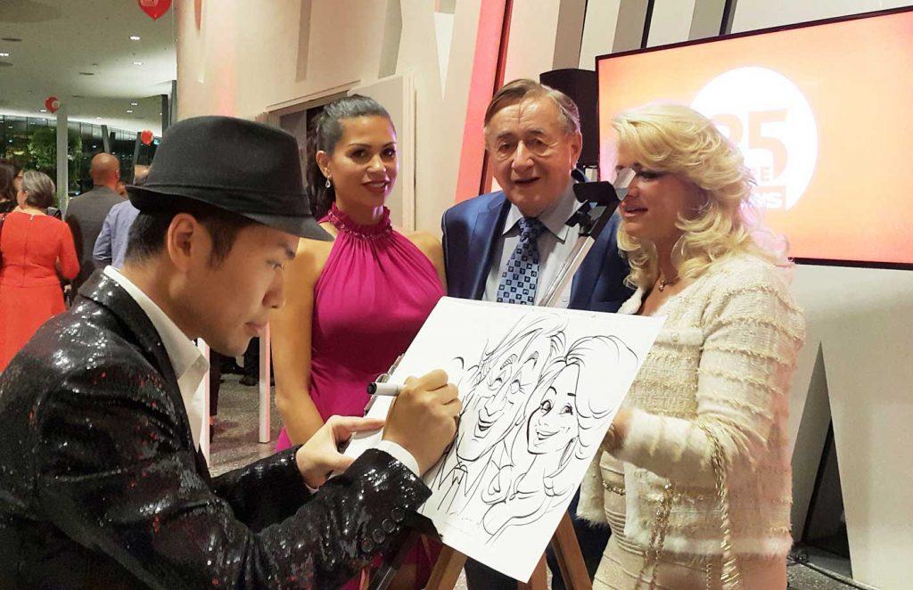 Xi Ding mit Richard Lugner