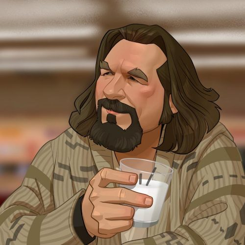 Karikatur the Big Lebowski, aka the Dude